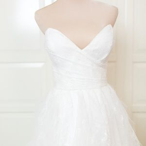 White Lace Sweetheart Wedding Dress